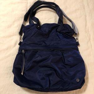 Large blue Lululemon folder tote / bag ❤️❤️❤️🎉🎊